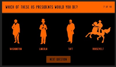 I want to say Roosevelt, feel like a Lincoln but look more like a Taft