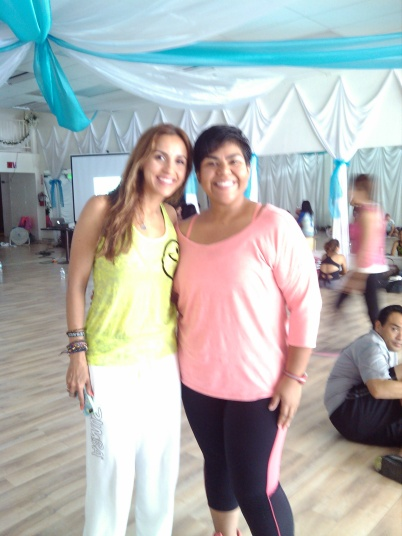 Eliza Stone- Our Zumba instructor, she was so much fun!