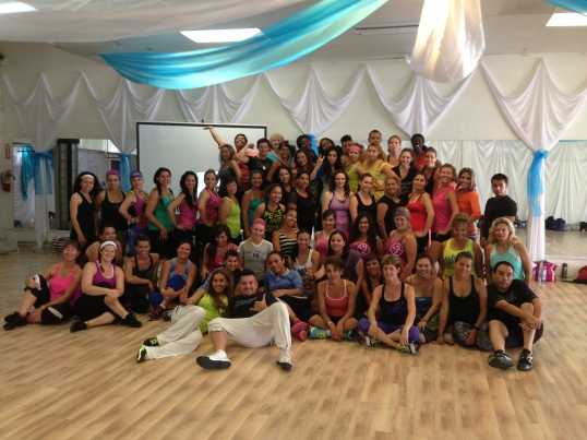 Can you spot me adding flare to the photo? The new generation of Zumba instructors in SoCal.
