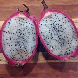 dragonfruit- tasted like mild kiwi
