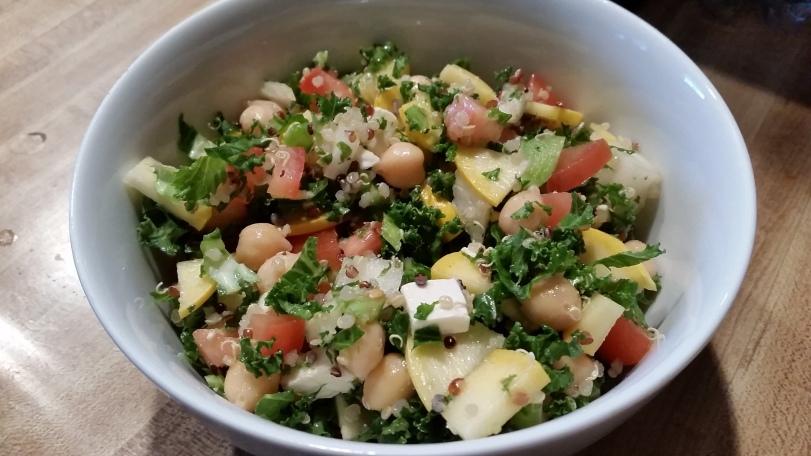 kale quinoa chickpea salad